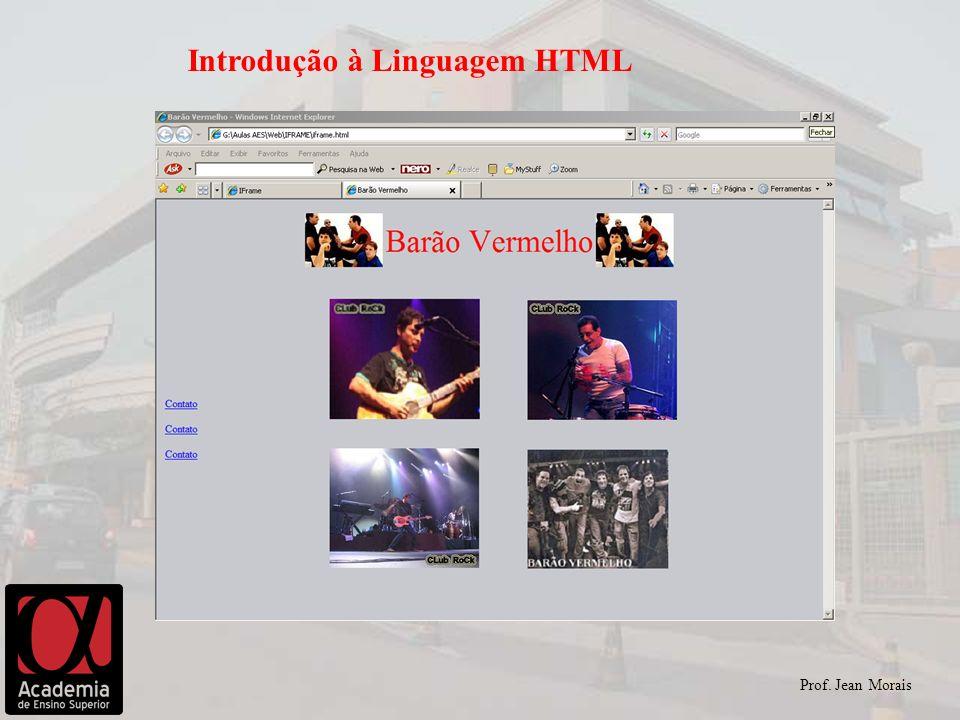 Prof. Jean Morais Introdução à Linguagem HTML