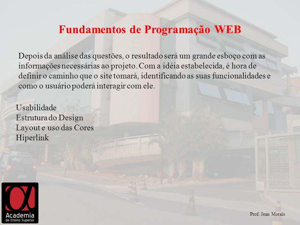 Depois da análise das questões, o resultado será um grande esboço com as informações necessárias ao projeto.
