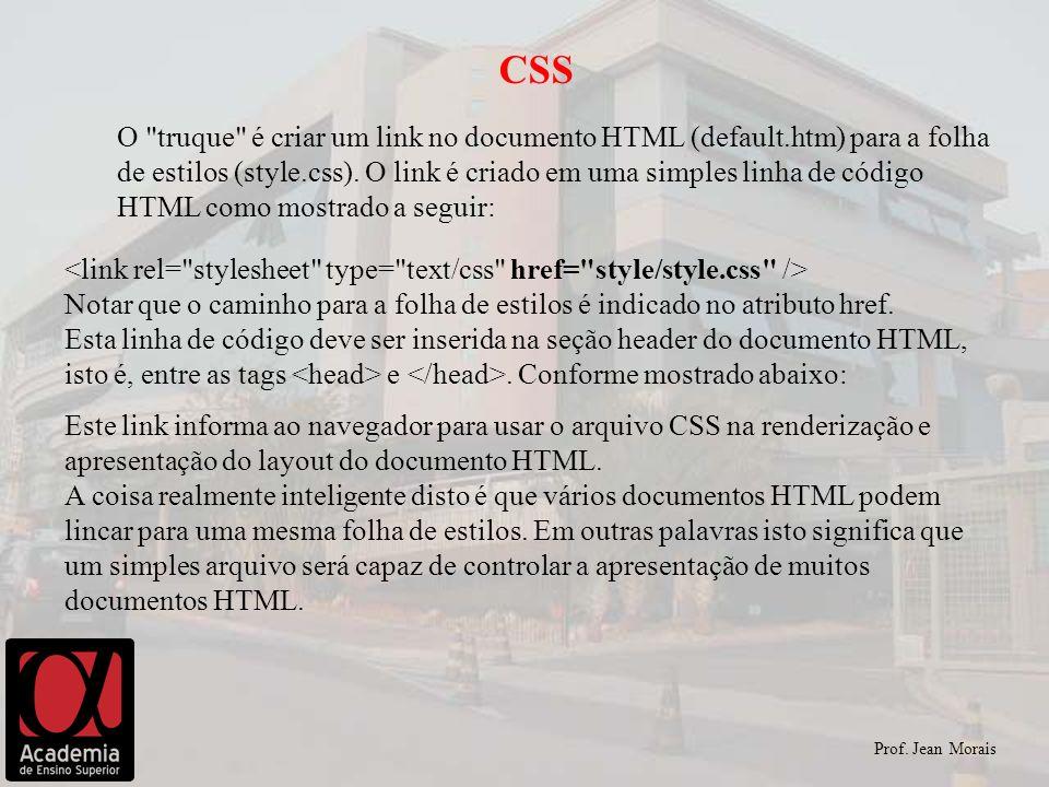 Prof. Jean Morais CSS O