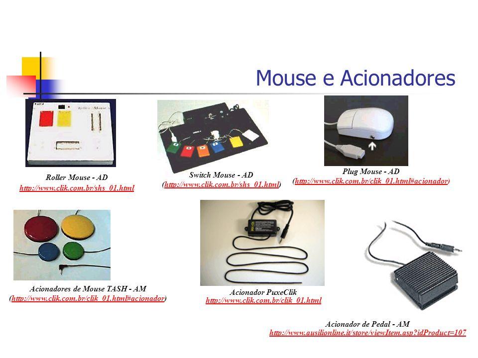 Roller Mouse - AD http://www.clik.com.br/shs_01.html Mouse e Acionadores Switch Mouse - AD (http://www.clik.com.br/shs_01.html)http://www.clik.com.br/