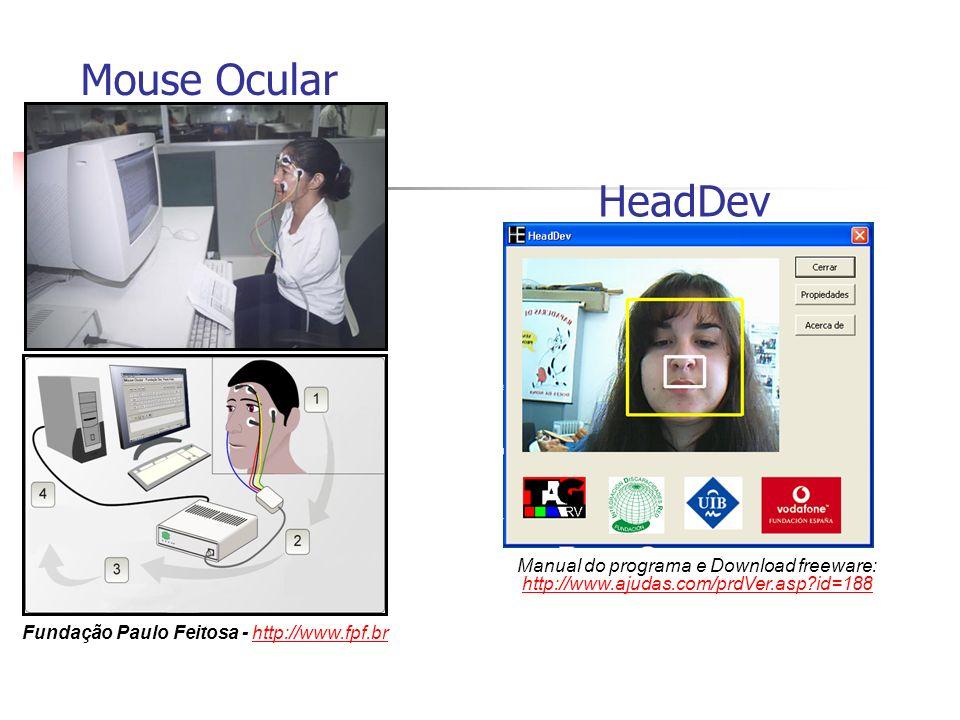 Mouse Ocular Fundação Paulo Feitosa - http://www.fpf.brhttp://www.fpf.br HeadDev Manual do programa e Download freeware: http://www.ajudas.com/prdVer.