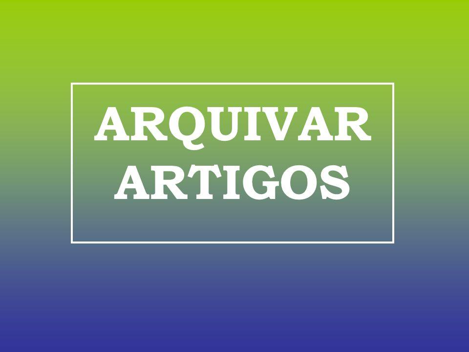 ARQUIVAR ARTIGOS