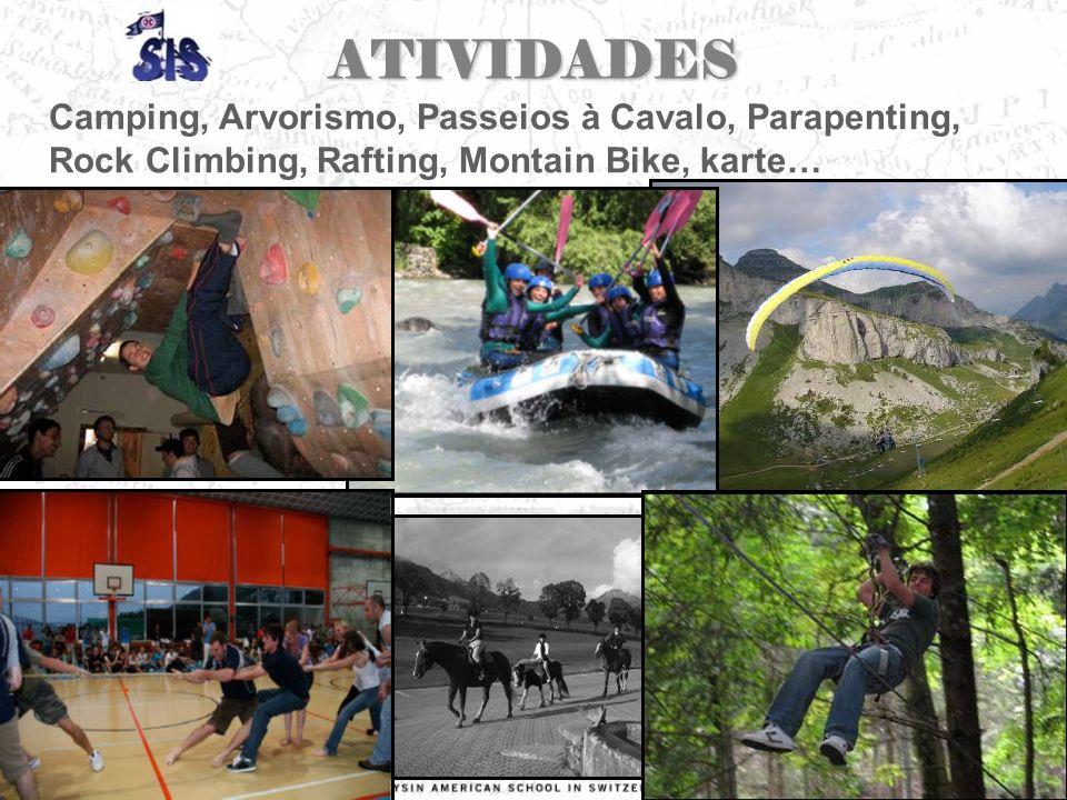 ATIVIDADES Camping, Arvorismo, Passeios à Cavalo, Parapenting, Rock Climbing, Rafting, Montain Bike, karte…