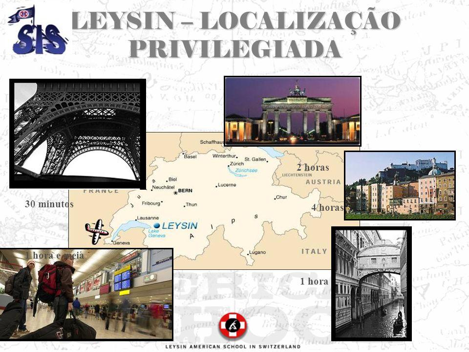 LEYSIN – LOCALIZAÇÃO PRIVILEGIADA 30 minutos 4 horas 1 hora e meia 1 hora 2 horas