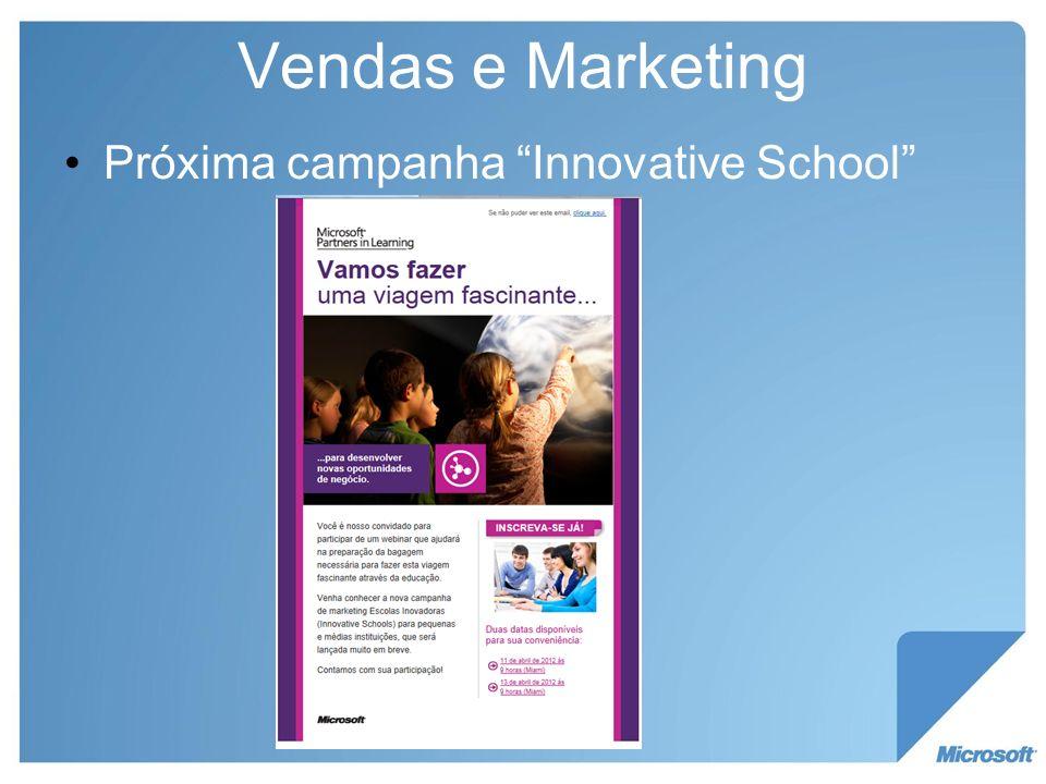 Vendas e Marketing Próxima campanha Innovative School