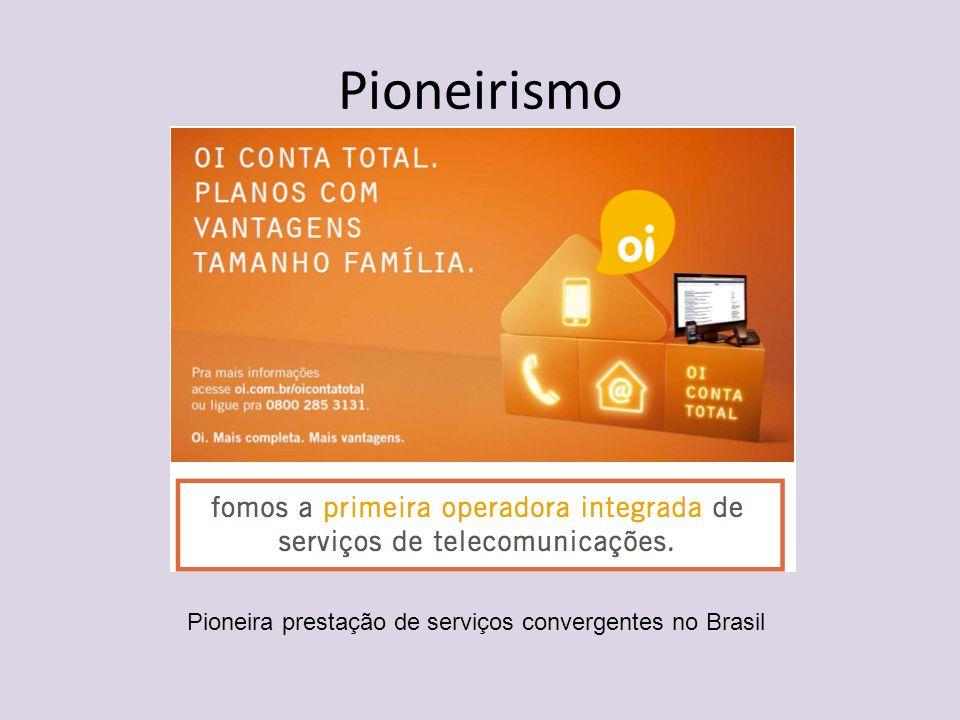 Pioneirismo Pioneira prestação de serviços convergentes no Brasil