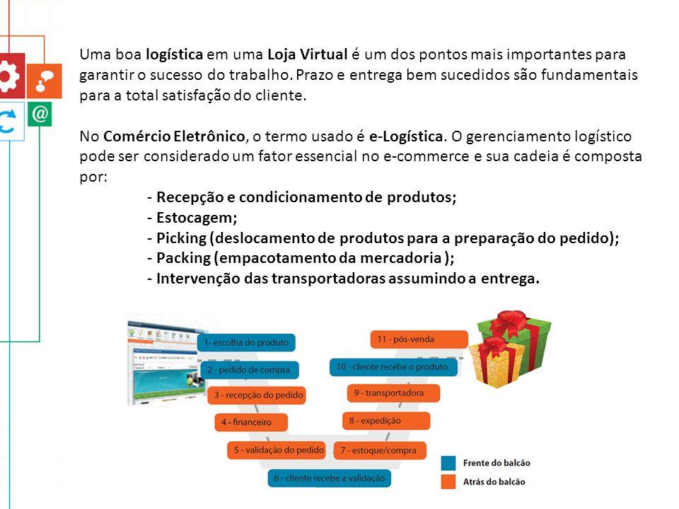 Uma boa logística em uma Loja Virtual é um dos pontos mais importantes para garantir o sucesso do trabalho. Prazo e entrega bem sucedidos são fundamen