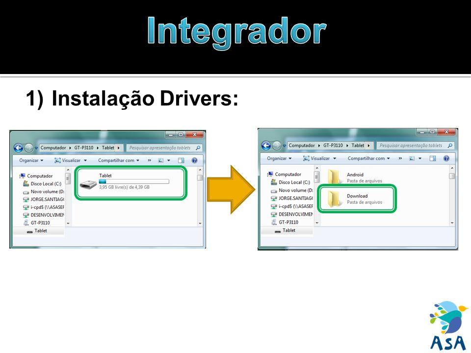 1)Instalação Drivers: