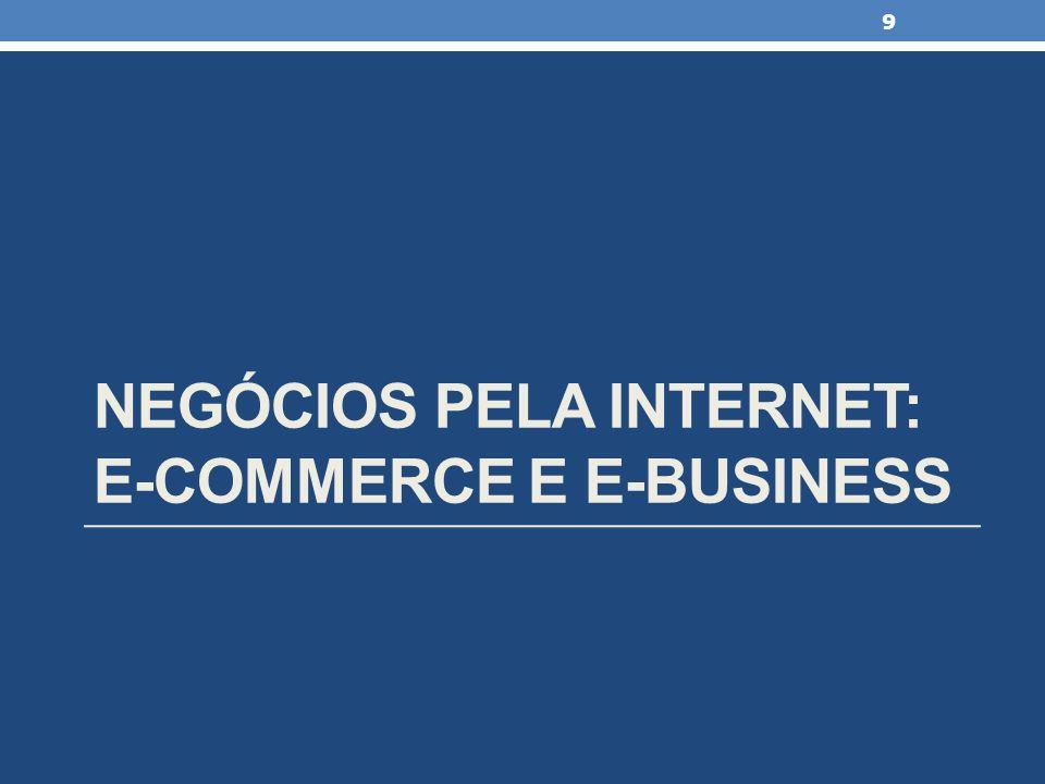 NEGÓCIOS PELA INTERNET: E-COMMERCE E E-BUSINESS 9