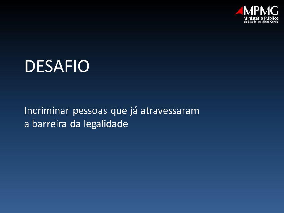 Incriminar pessoas que já atravessaram a barreira da legalidade DESAFIO