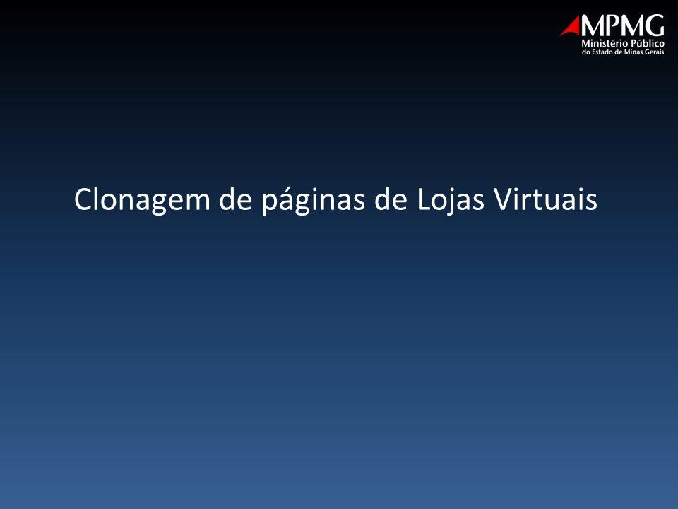 Clonagem de páginas de Lojas Virtuais