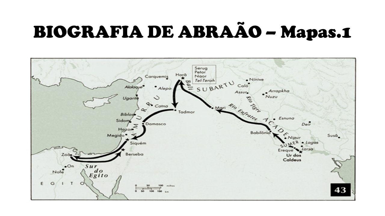 BIOGRAFIA DE ABRAÃO Abraão recebe uma promessa para deixar a sua terra e sua família e que ele se tornaria uma gande nação.