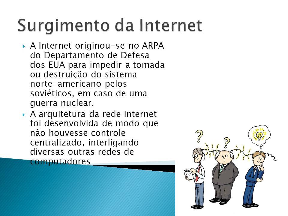 A Internet distribui, através dos seus servidores, uma grande variedade de documentos (textos e multimidia), entre os quais formam a arquitetura World Wide Web.
