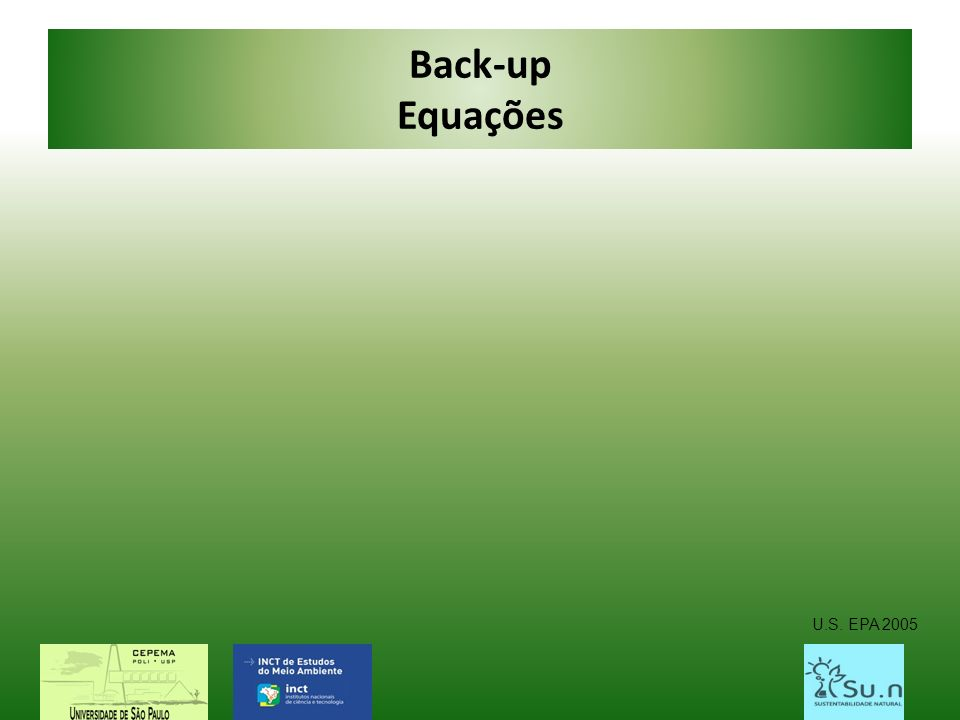 Back-up Equações U.S. EPA 2005