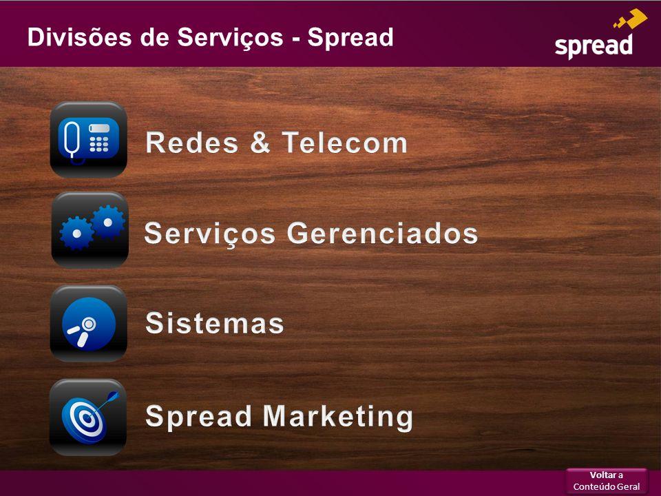 Divisões de Serviços - Spread Voltar a Conteúdo Geral Voltar a Conteúdo Geral