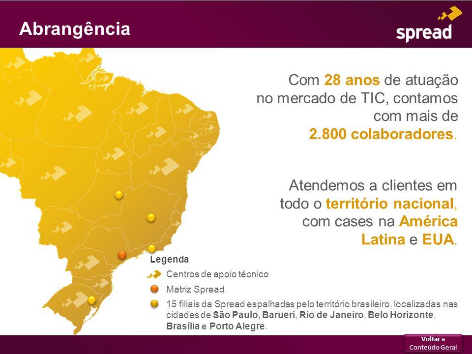 Atendemos a clientes em todo o território nacional, com cases na América Latina e EUA. Com 28 anos de atuação no mercado de TIC, contamos com mais de