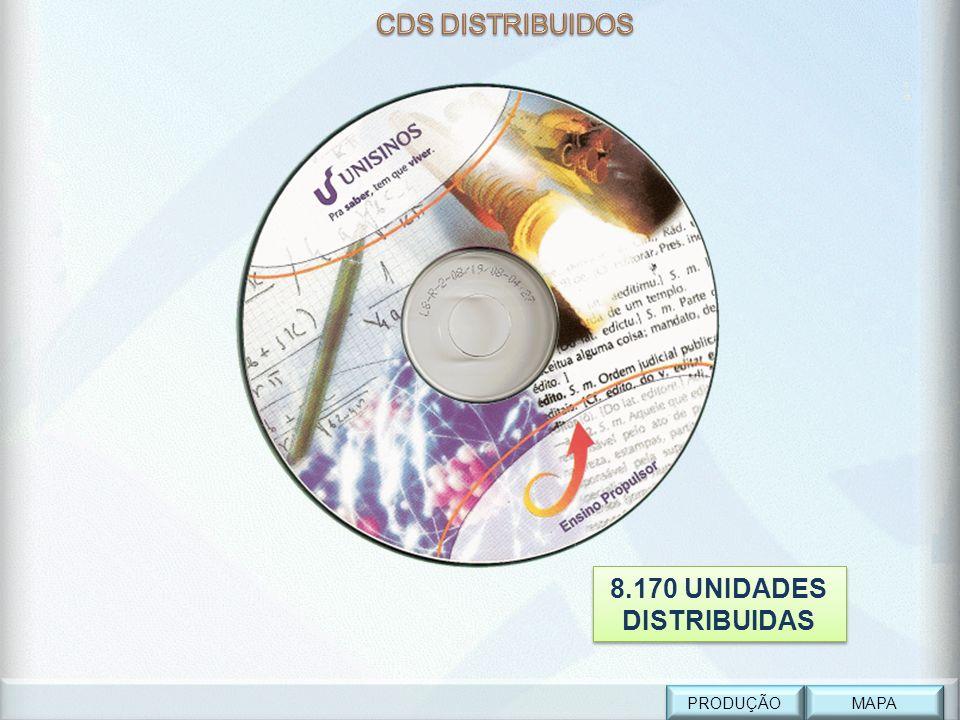 cdcd MAPA PRODUÇÃO 8.170 UNIDADES DISTRIBUIDAS 8.170 UNIDADES DISTRIBUIDAS