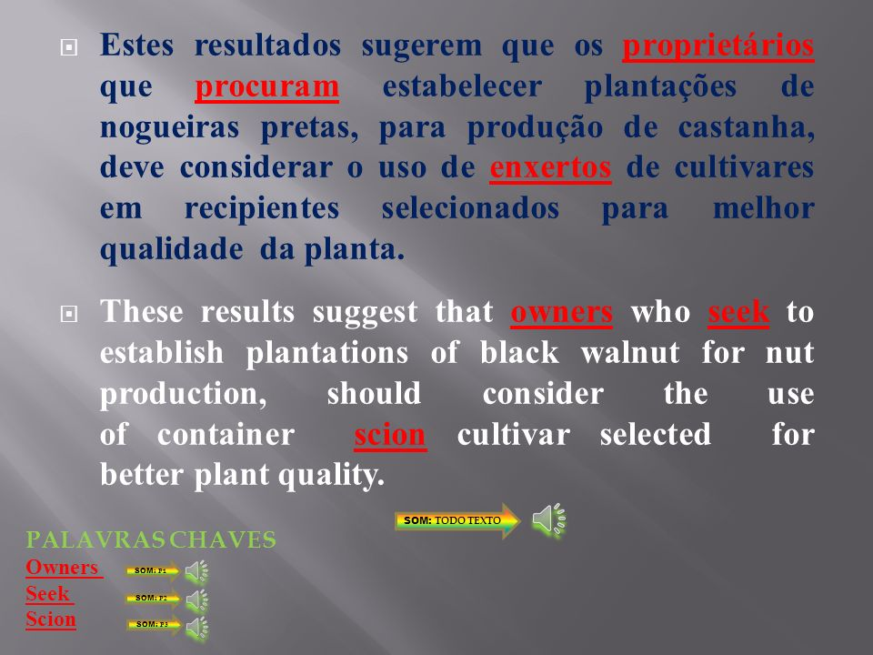 A valorização da espécie por práticas agroflorestais, a torna mais atraente para os produtores. The recovery of the species for agroforestry practices