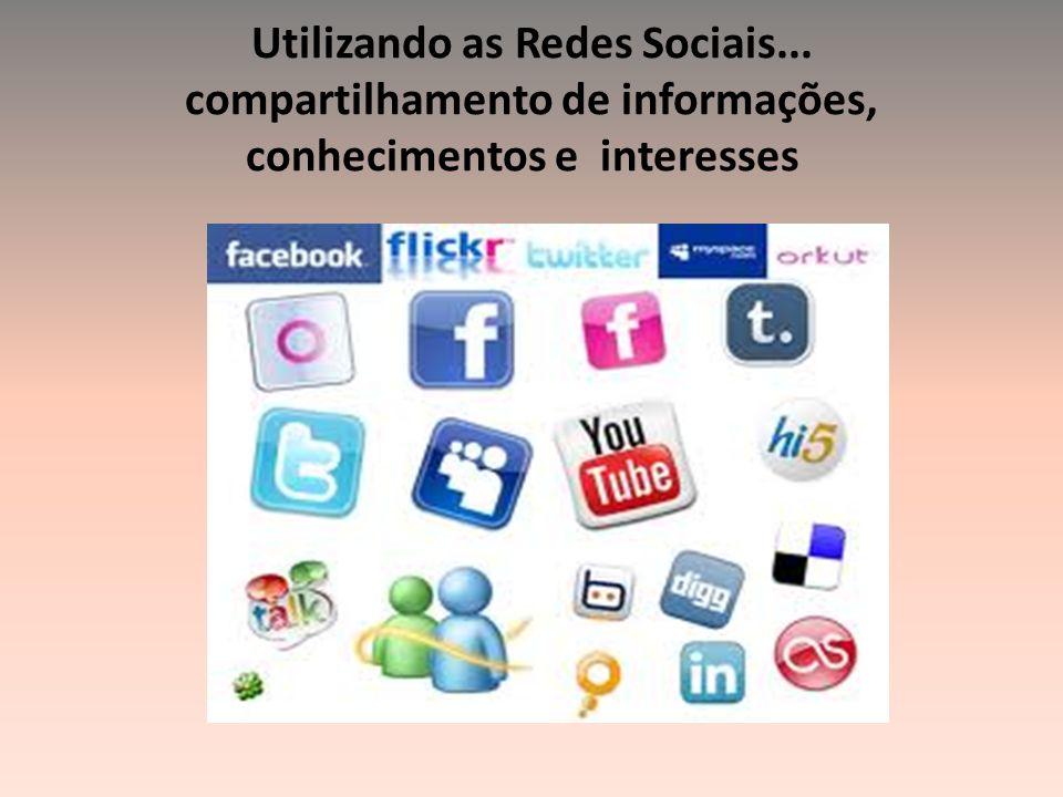 Utilizando as Redes Sociais... compartilhamento de informações, conhecimentos e interesses