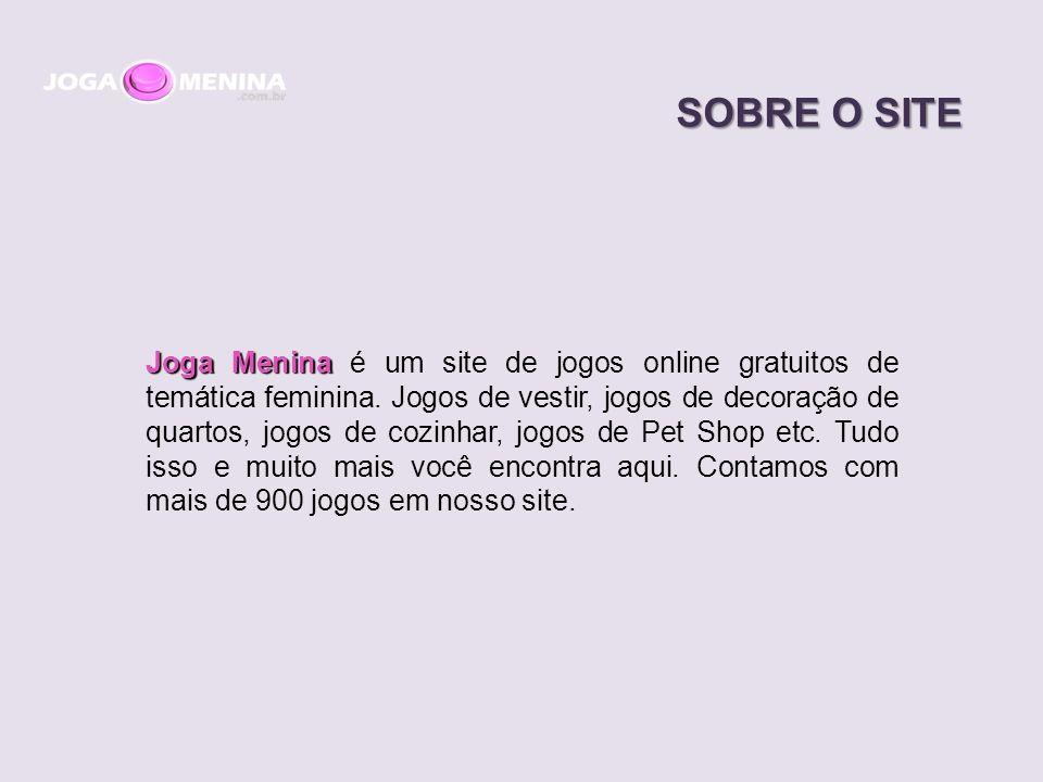 Joga Menina Joga Menina é um site de jogos online gratuitos de temática feminina.