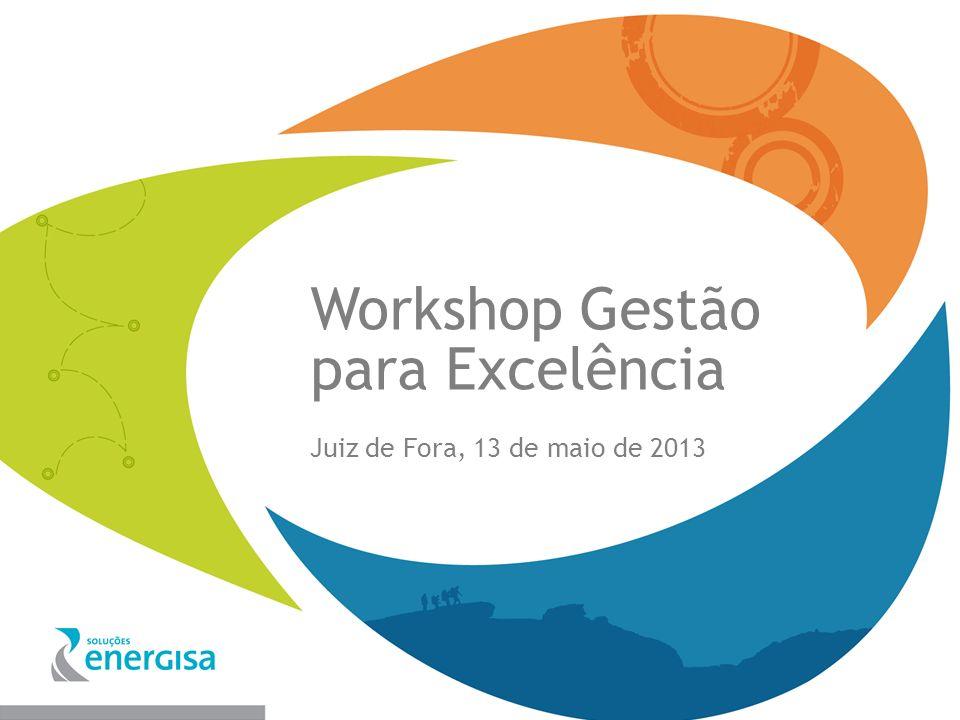 Workshop Gestão para Excelência Juiz de Fora, 13 de maio de 2013