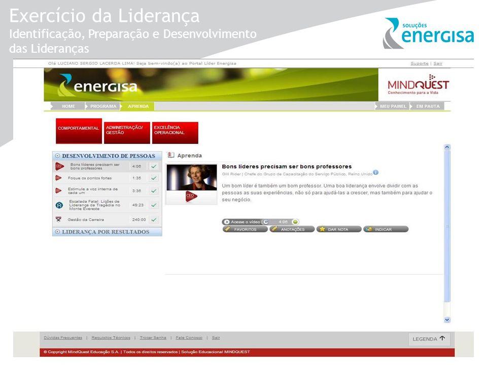 Exercício da Liderança Identificação, Preparação e Desenvolvimento das Lideranças