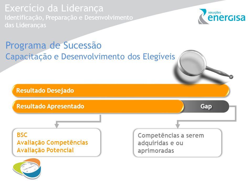 Exercício da Liderança Identificação, Preparação e Desenvolvimento das Lideranças Gap Programa de Sucessão Capacitação e Desenvolvimento dos Elegíveis