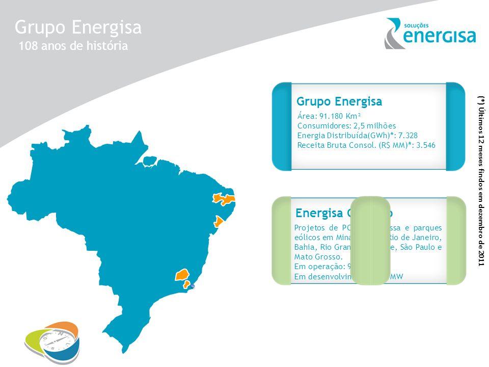 Grupo Energisa Projetos de PCHs, biomassa e parques eólicos em Minas Gerais, Rio de Janeiro, Bahia, Rio Grande do Norte, São Paulo e Mato Grosso. Em o