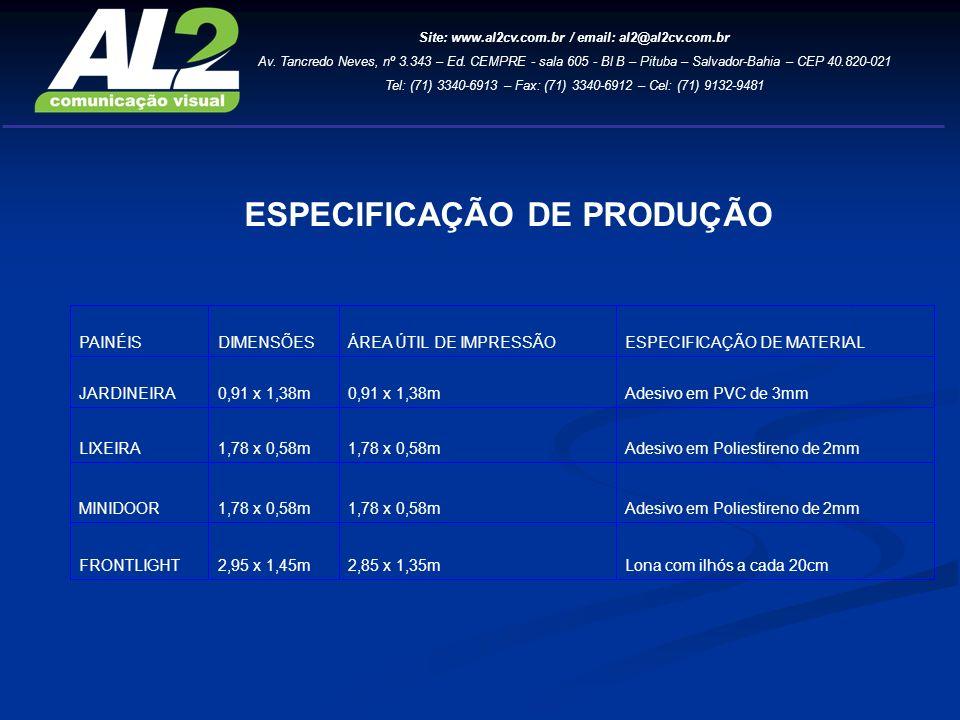 Site: www.al2cv.com.br / email: al2@al2cv.com.br Av.
