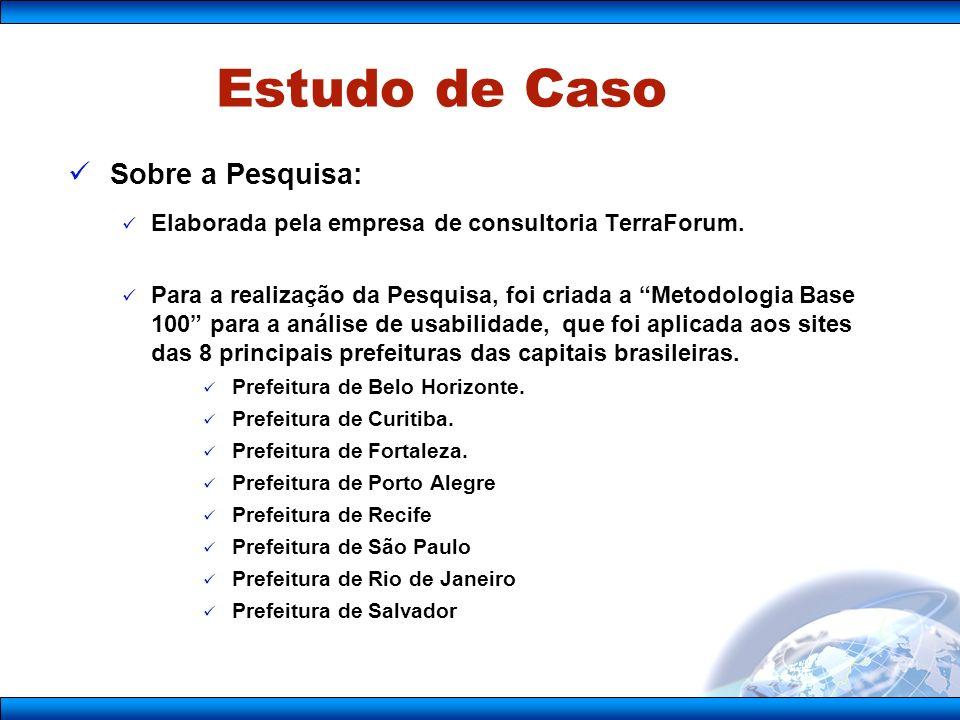 Sobre a Pesquisa: Elaborada pela empresa de consultoria TerraForum.