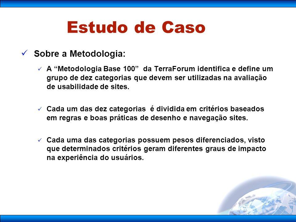 Sobre a Metodologia: A Metodologia Base 100 da TerraForum identifica e define um grupo de dez categorias que devem ser utilizadas na avaliação de usabilidade de sites.