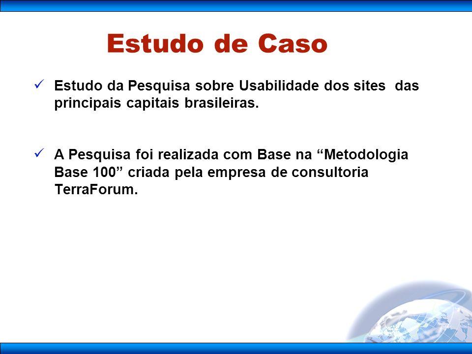 Princípios Universais As seções internas de um portal devem seguir a mesma lógica e organização da página principal.