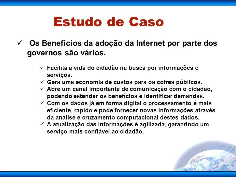 Os Benefícios da adoção da Internet por parte dos governos são vários.