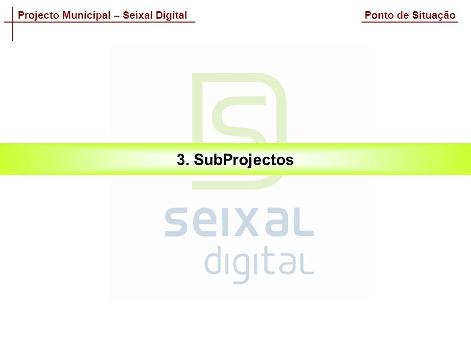 Projecto Municipal – Seixal Digital Ponto de Situação 3. SubProjectos