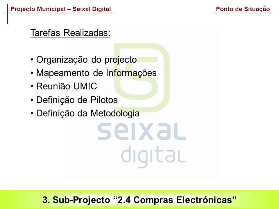 Projecto Municipal – Seixal Digital Ponto de Situação 3.