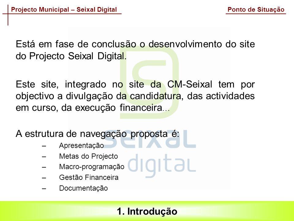 Projecto Municipal – Seixal Digital Ponto de Situação 1.
