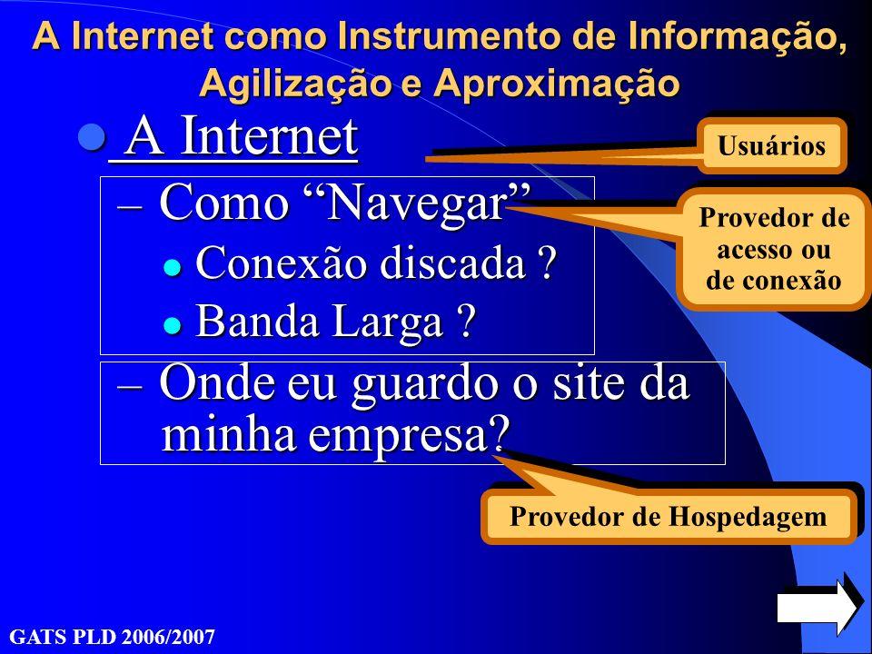 A Internet A Internet – Como Navegar Conexão discada .