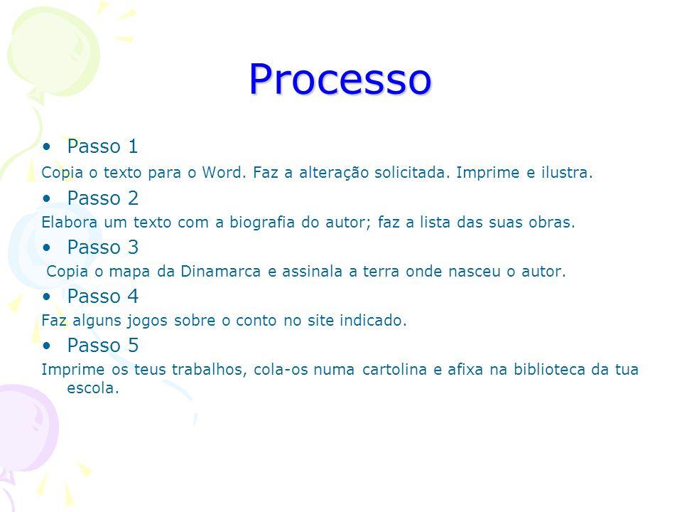 Processo Passo 1 Copia o texto para o Word.Faz a alteração solicitada.