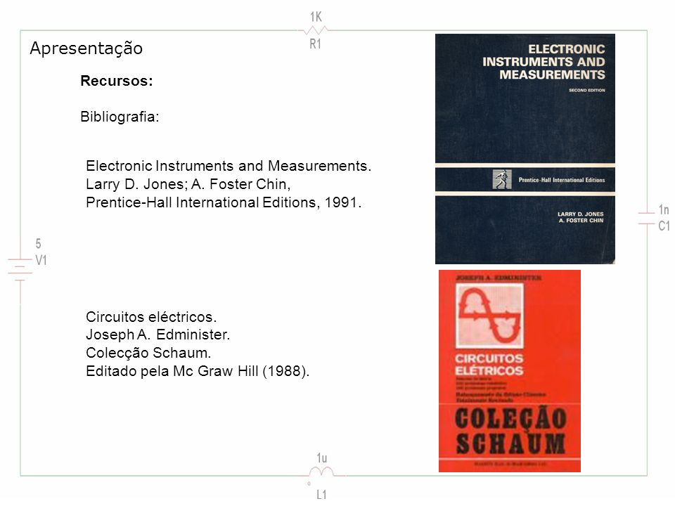 Recursos: Bibliografia: Electronic Instruments and Measurements.