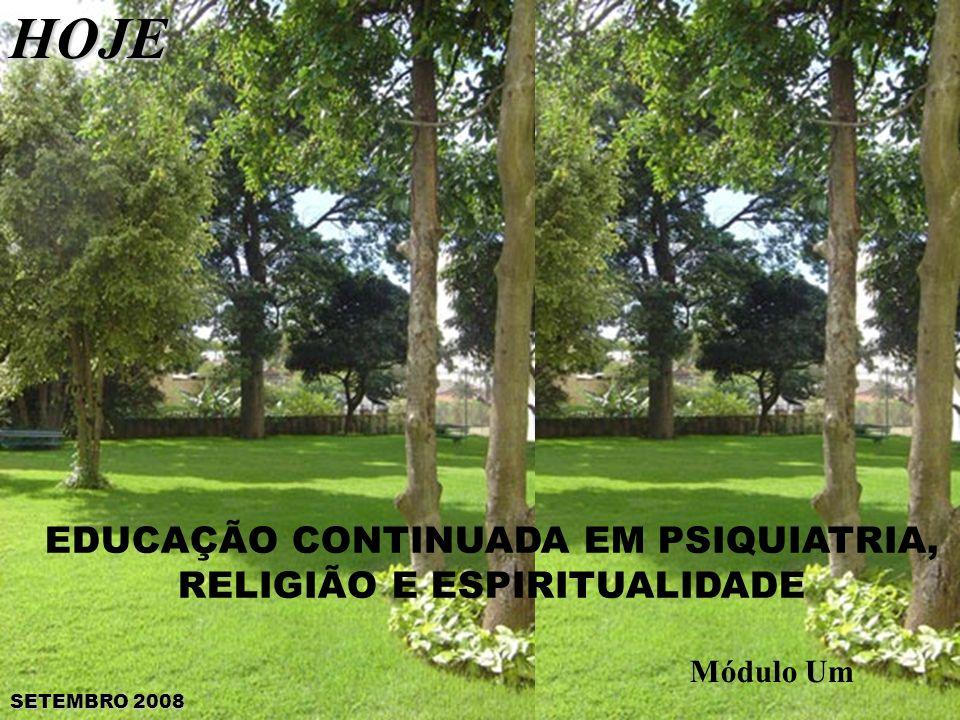 EDUCAÇÃO CONTINUADA EM PSIQUIATRIA, RELIGIÃO E ESPIRITUALIDADE Módulo UmHOJE SETEMBRO 2008
