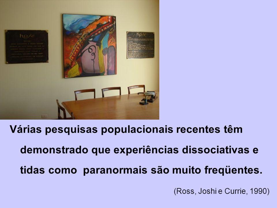 Várias pesquisas populacionais recentes têm demonstrado que experiências dissociativas e tidas como paranormais são muito freqüentes.