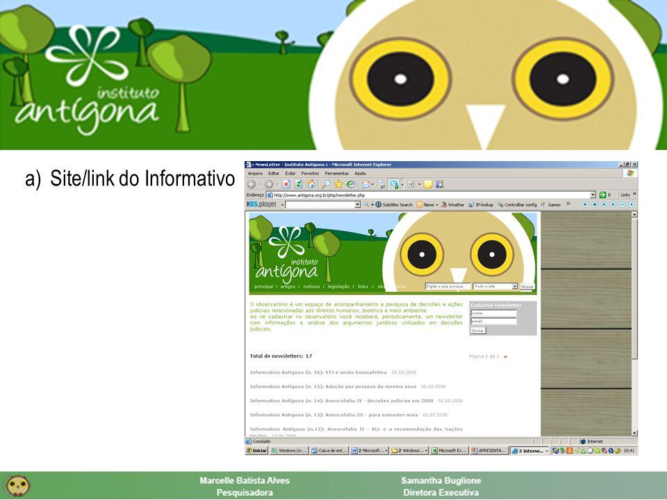 a)Site/link do Informativo