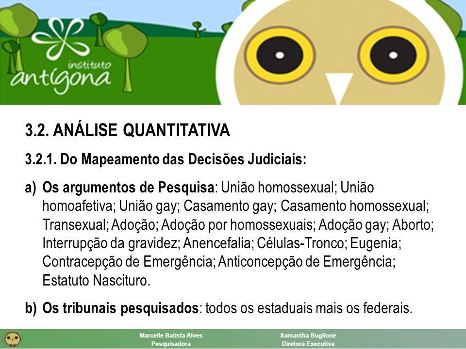3.3.ANÁLISE QUALITATIVA: união homossexual Superior Tribunal de Justiça - Recurso Especial n.