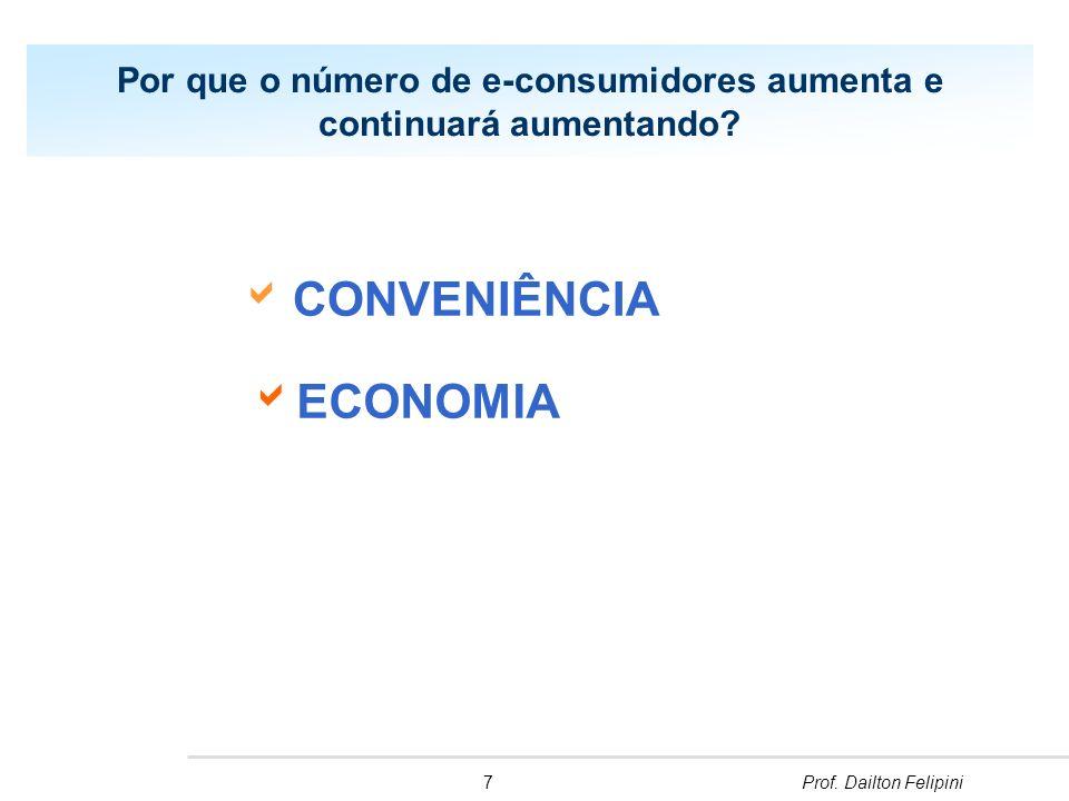7Prof.Dailton Felipini Por que o número de e-consumidores aumenta e continuará aumentando.