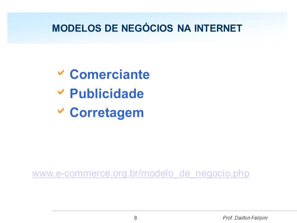 9Prof.Dailton Felipini Os Quatro fundamentos para um empreendimento de sucesso na Internet 4.