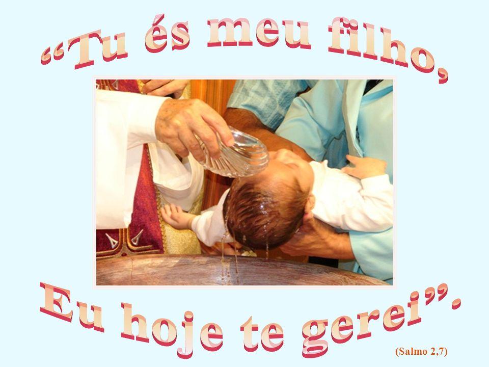 No coração dessa criança o Pai está derramando o Espírito de Jesus, o Espírito Santo.