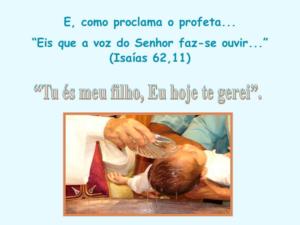 Nessa solene celebração que muda nossa vida, cada criança (ou adulto) que vai ao Seu encontro receber a consagração no Batismo. o Pai Nosso que está n