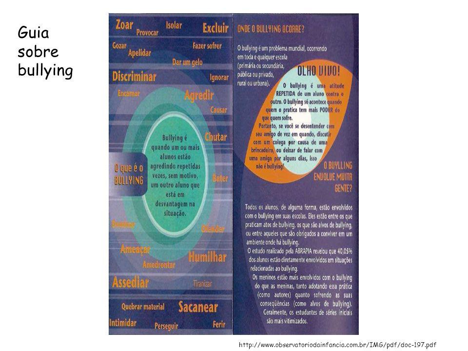 http://www.observatoriodainfancia.com.br/IMG/pdf/doc-197.pdf Guia sobre bullying