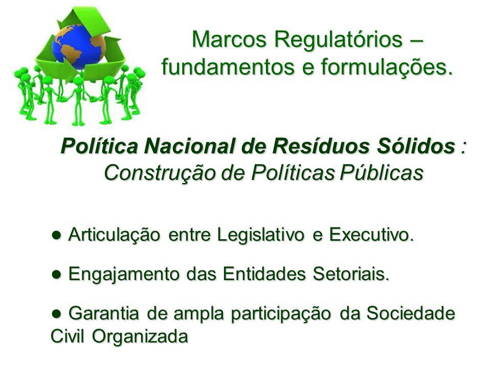 Política Nacional de Resíduos Sólidos : Construção de Políticas Públicas Articulação entre Legislativo e Executivo.