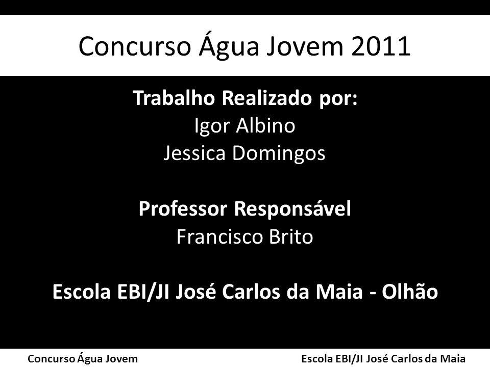 Concurso Água Jovem 2011 Trabalho Realizado por: Igor Albino Jessica Domingos Professor Responsável Francisco Brito Escola EBI/JI José Carlos da Maia
